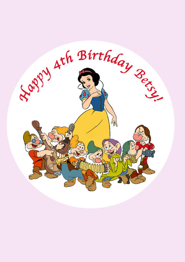 Snow White And The Seven Dwarfs Cake Decorations