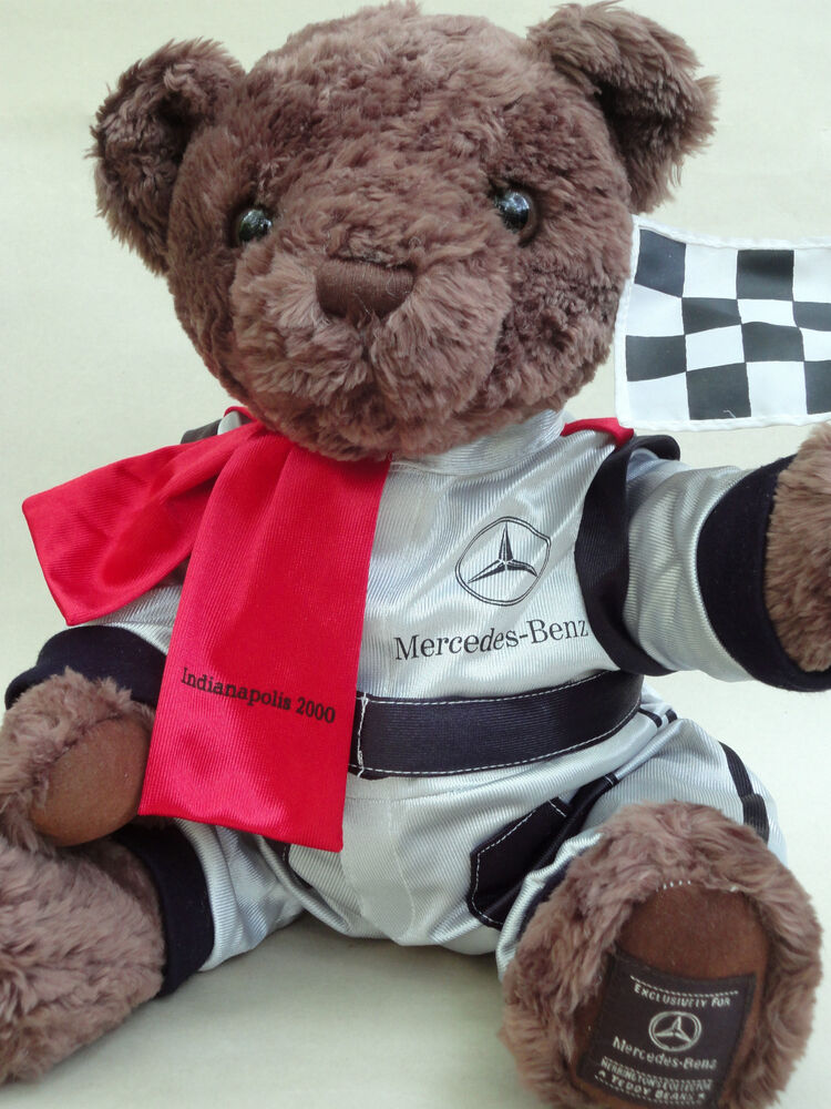 Mercedes benz promo plush teddy bear indy 2000 racing suit for Mercedes benz bear