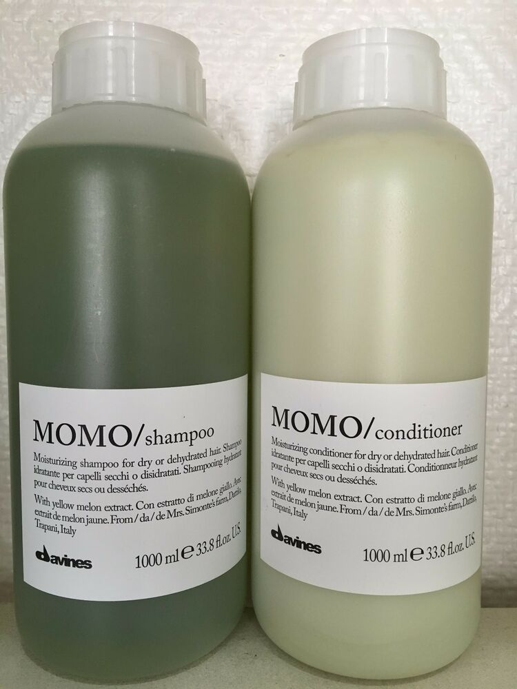 davines momo moisturizing shampoo and conditioner 1000ml set ebay. Black Bedroom Furniture Sets. Home Design Ideas