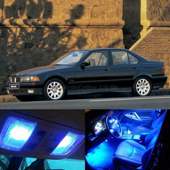 13x Blue Led Light Interior Bulb Package For Bmw E36 318i