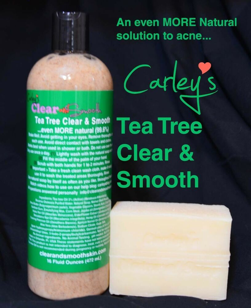 Natural Acne Solution Clear & Smooth TEA TREE NO Benzoyl