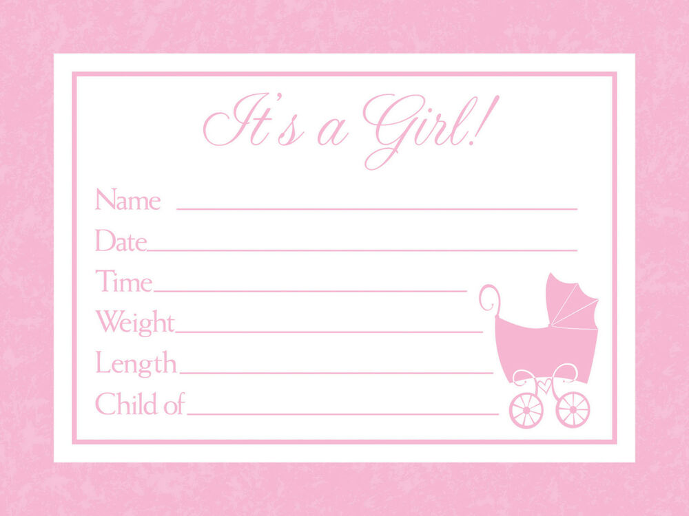 Its A Girl Birth Announcements From The Baby Love