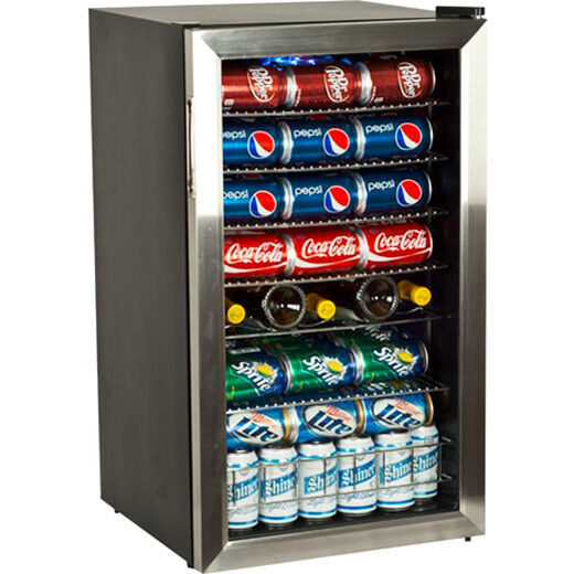 Clear Glass Door Mini Fridge