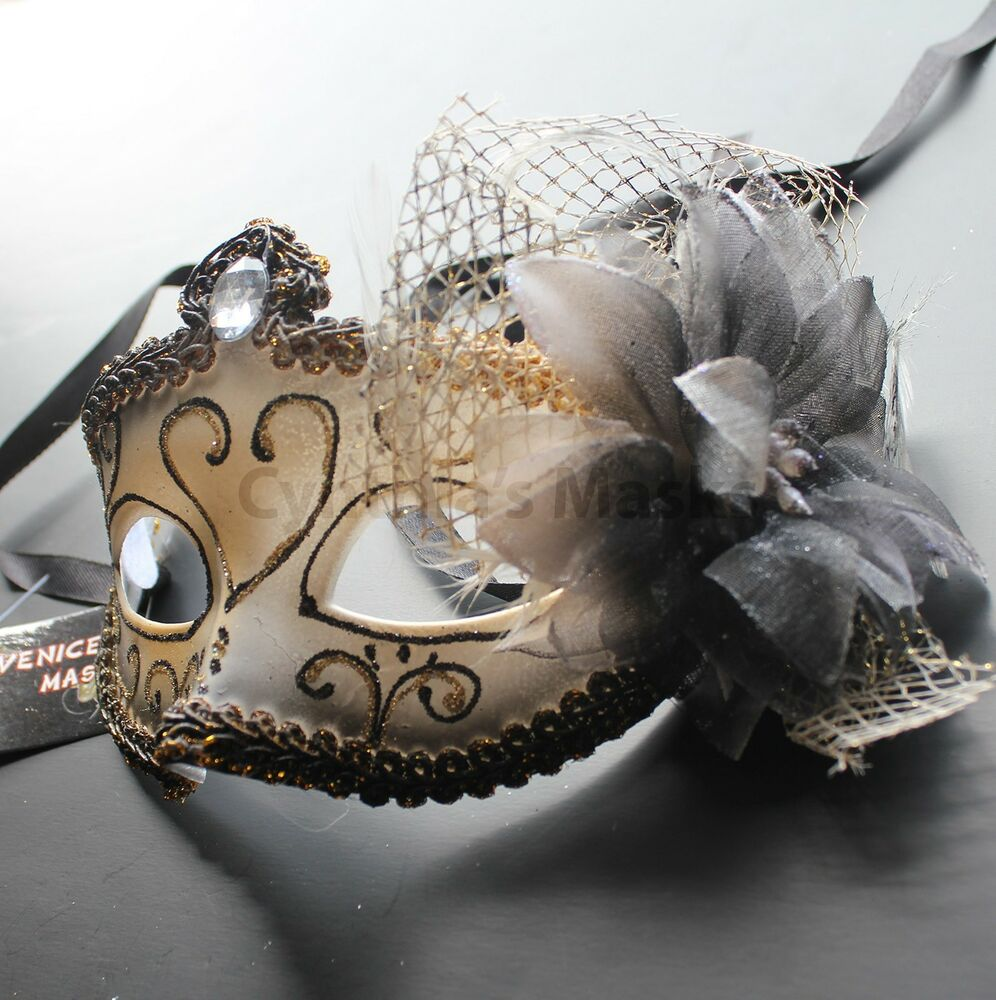 Black Venetian Floral Mask 5m2a For Wedding Parties Home