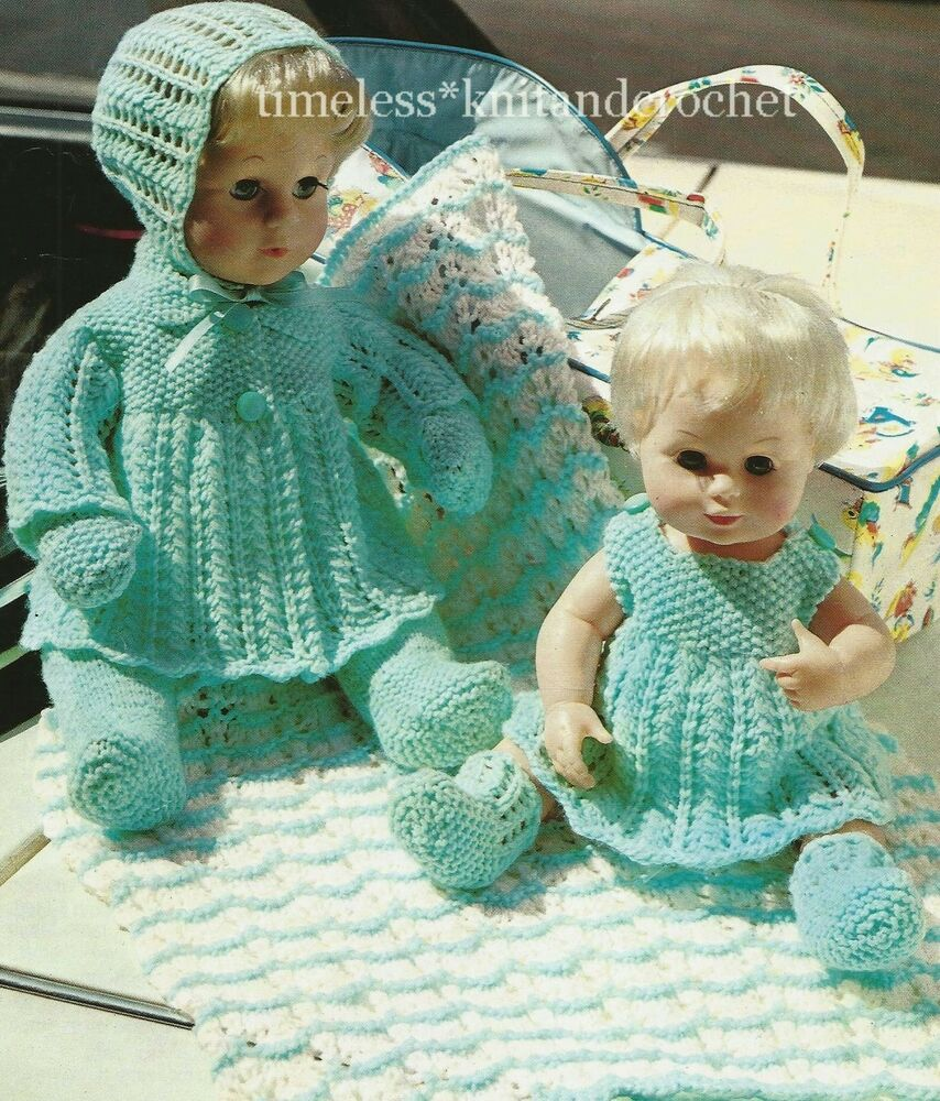 Vintage Knitting Pattern For Baby Doll Clothes Amp Pram