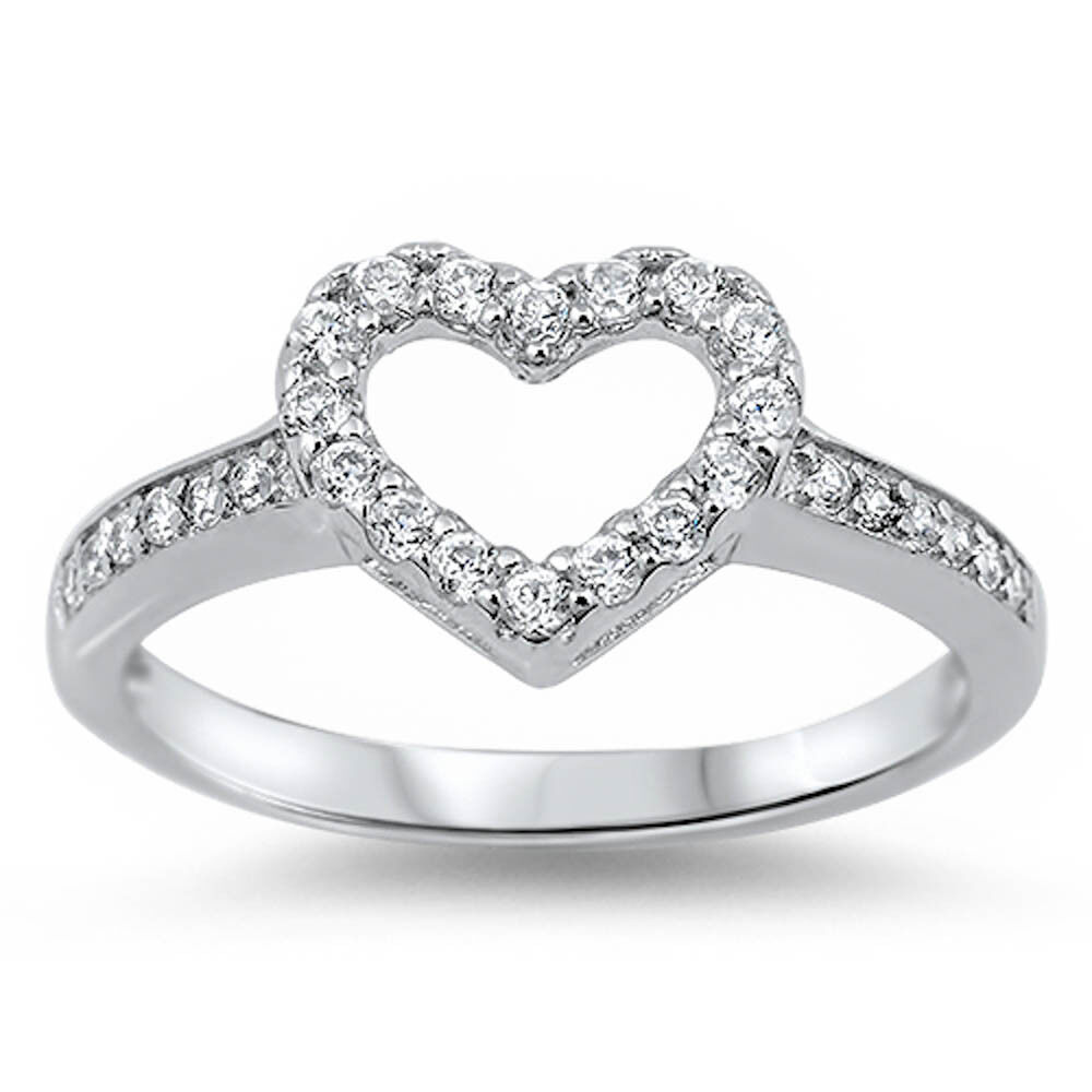 for white cz promise ring 925 sterling