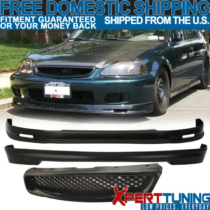 1999 2000 honda civic ek 3dr mg front rear bumper lip. Black Bedroom Furniture Sets. Home Design Ideas
