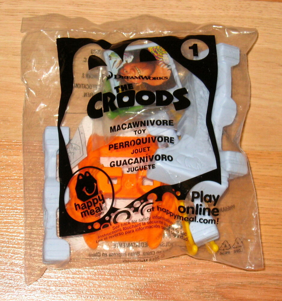 Happy Meal Toys : Mcdonalds happy meal toy the croods macawnivore brand
