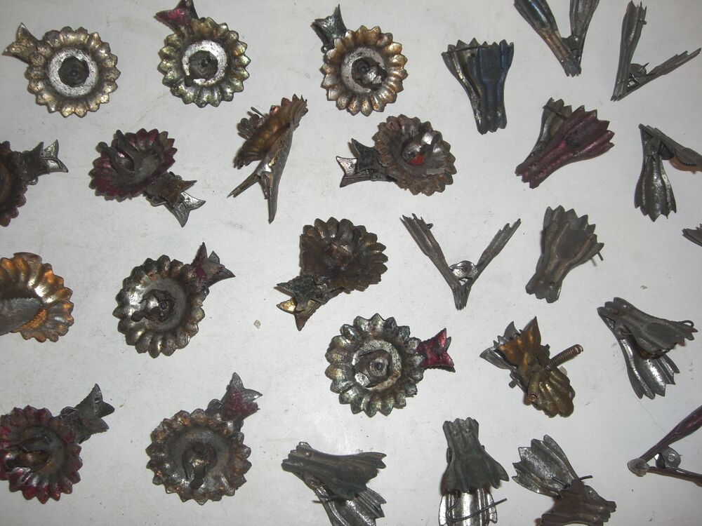28 Pc Antique Christmas Tree Candle Holder Clip Ornaments