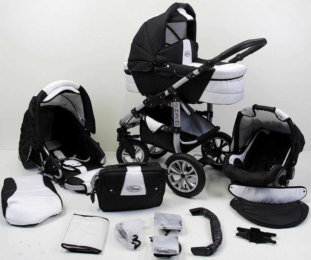 saturn kinderwagen kombikinderwagen 3in1 babyschale babywagen ebay. Black Bedroom Furniture Sets. Home Design Ideas