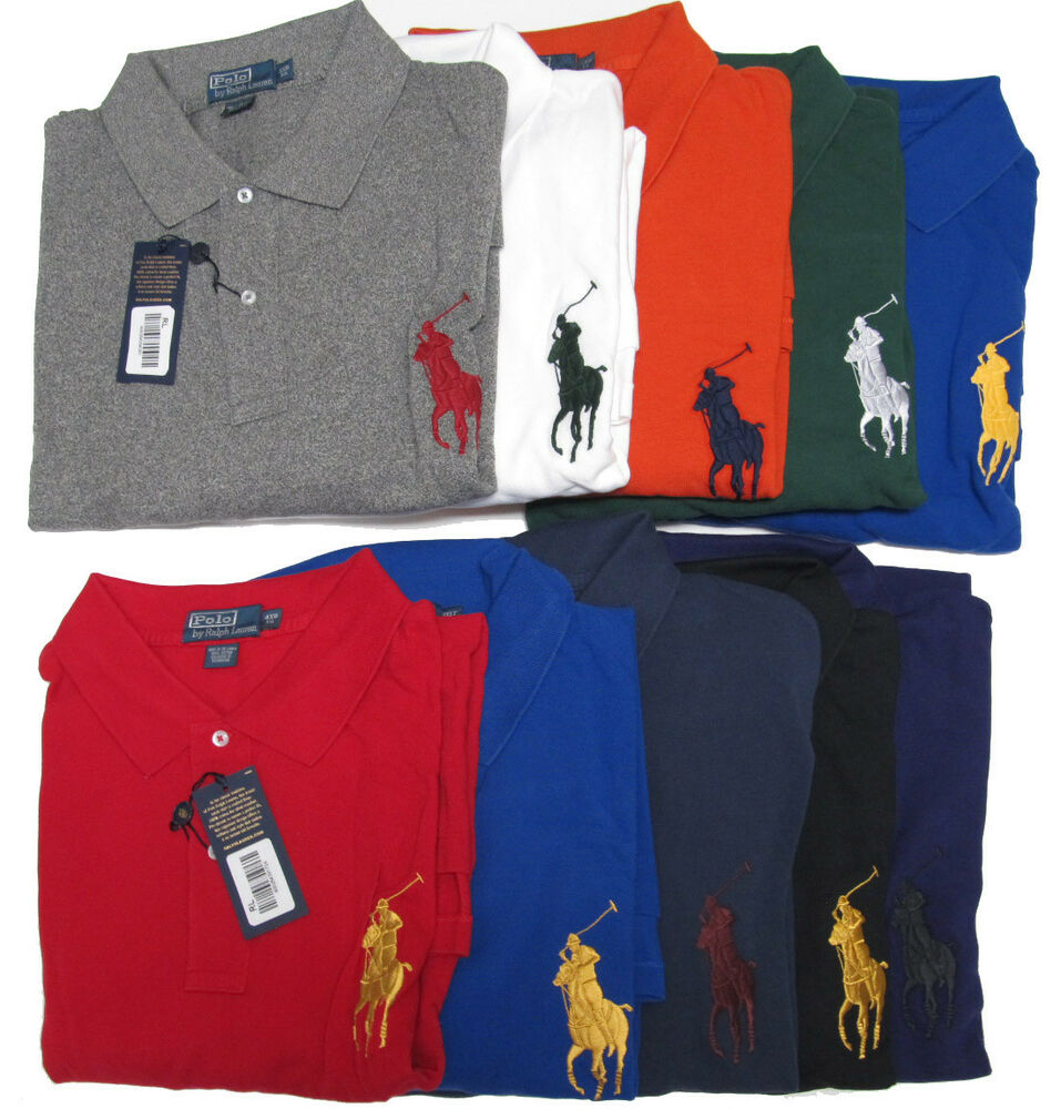 $125 Polo Ralph Lauren Mens Big Pony Logo Long Sleeve Button Mesh Shirt Sweater | eBay