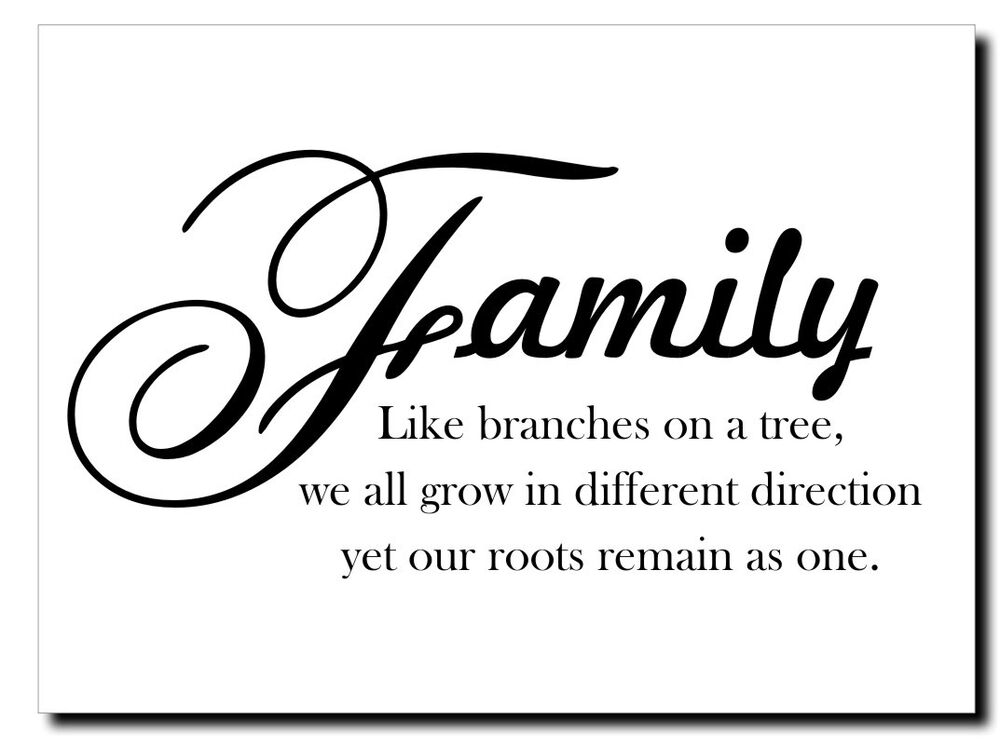 Like Branches On A Tree Quote: Family Like Branches On A Tree Vinyl Wall Decal Sticker