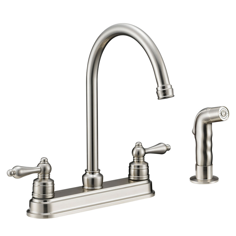 designers impressions satin nickel kitchen faucet with sprayer 610071 ebay