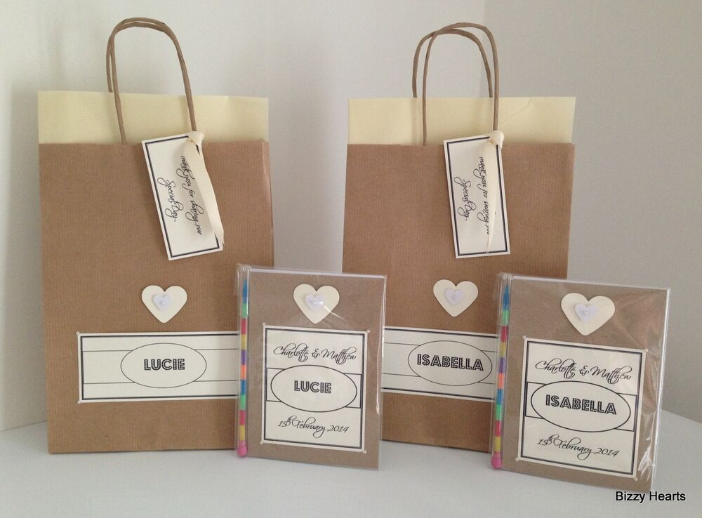 Childrens Wedding Gifts: Personalised Childrens VINTAGE STYLE Activity Pack & Gift