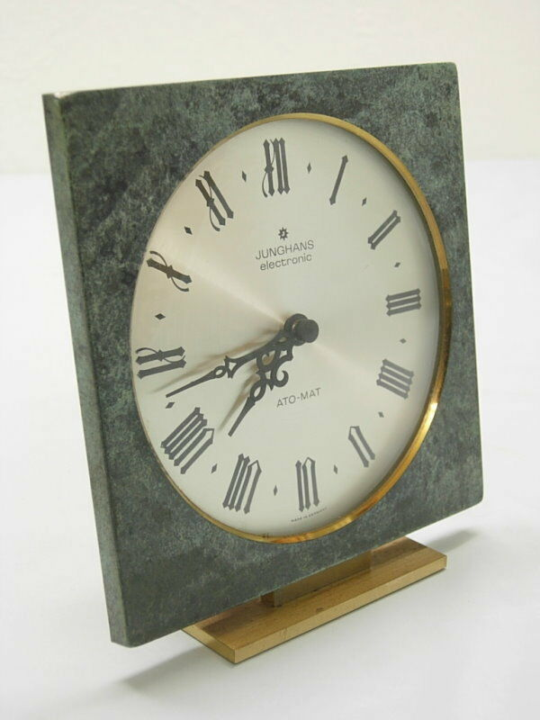junghans electronic tischuhr deskclock messing marmor ebay. Black Bedroom Furniture Sets. Home Design Ideas