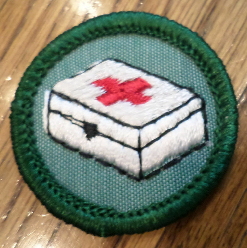 jr girl scout green junior merit badge home health and