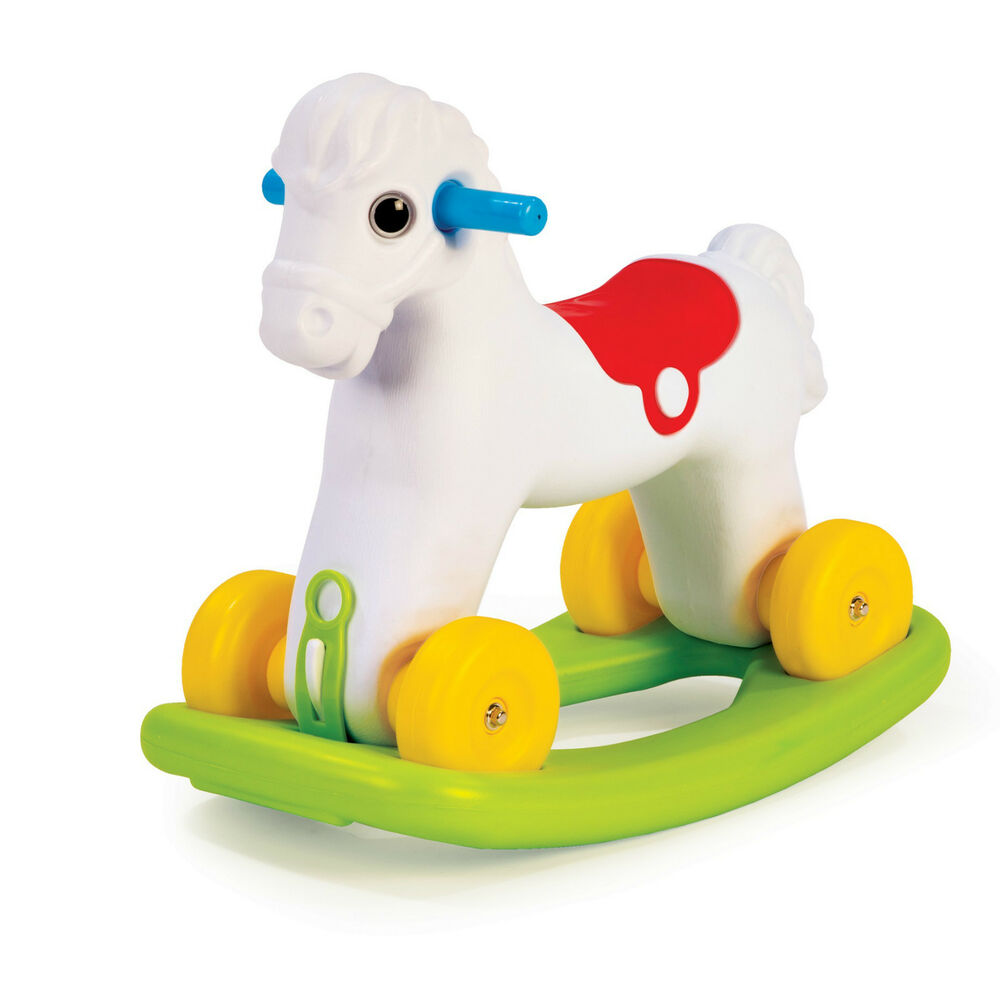 Rocking Toys For Boys : Large in rocking riding horse wheels kids indoor