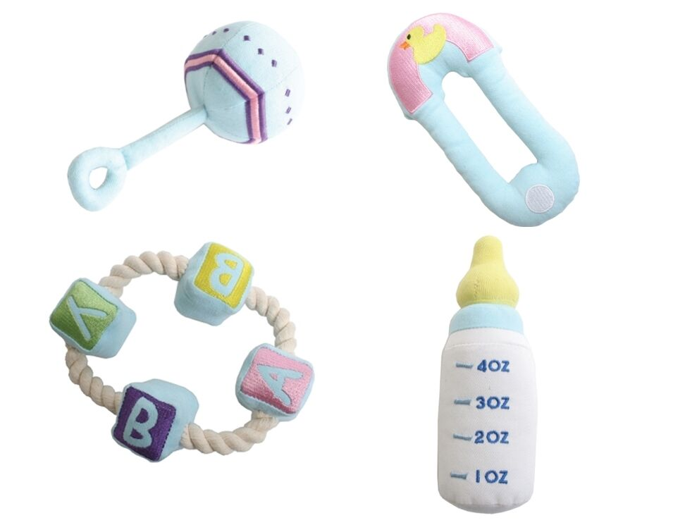 Baby Rattle Teething Ring Diaper Pin Puppy S First Toys