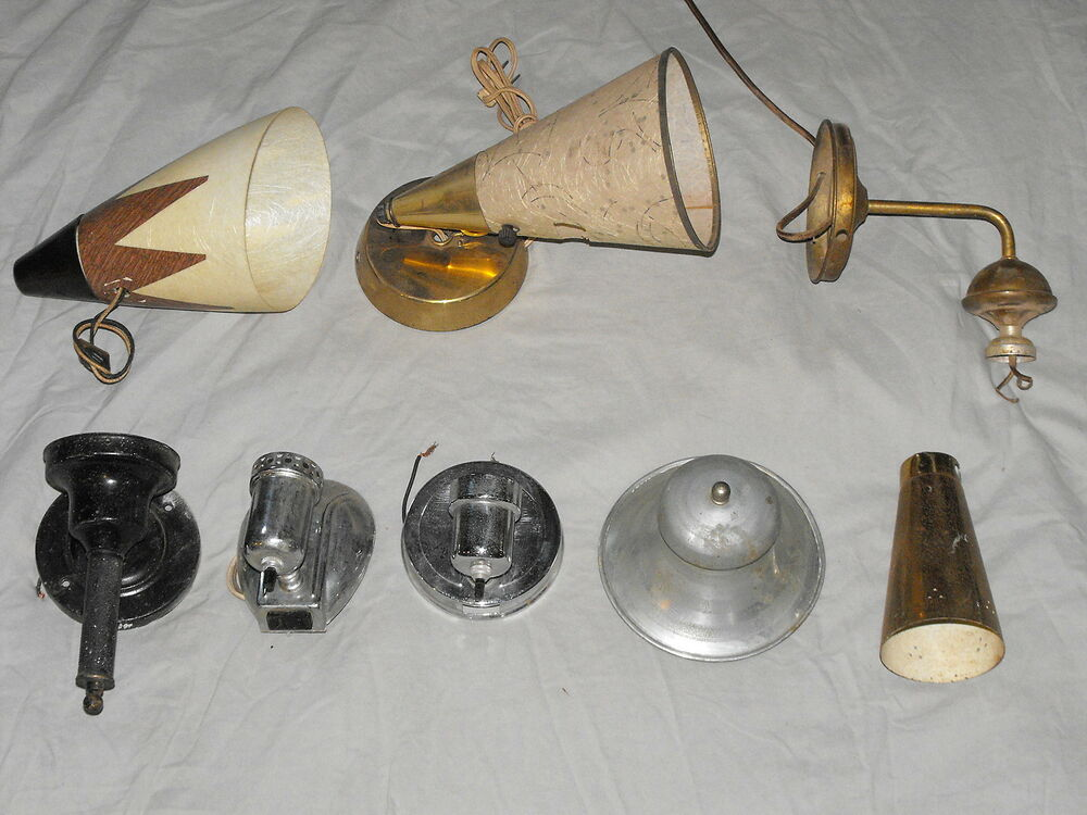 Old VTG Decorative Wall Lamp Sconce Portable Light Fixture ... on Wall Sconce Replacement Parts id=89292
