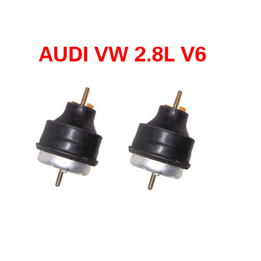 audi vw 2 8l v6 engine motor mount kit 2 pcs pair a4 a6. Black Bedroom Furniture Sets. Home Design Ideas