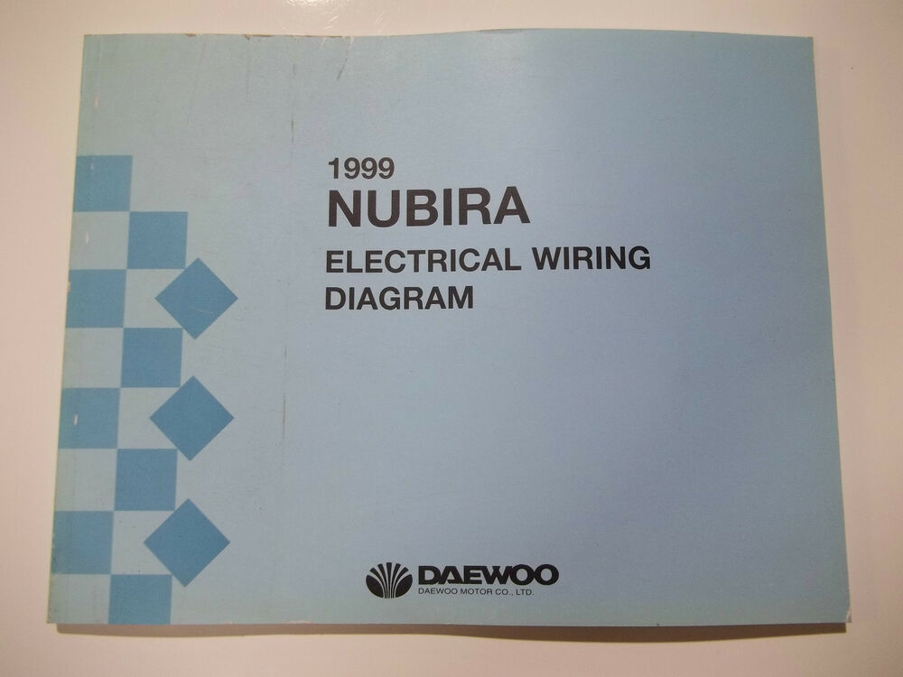 1999 Daewoo Nubira Electrical Wiring Diagram Service Manual Ebay - Wiring Diagram