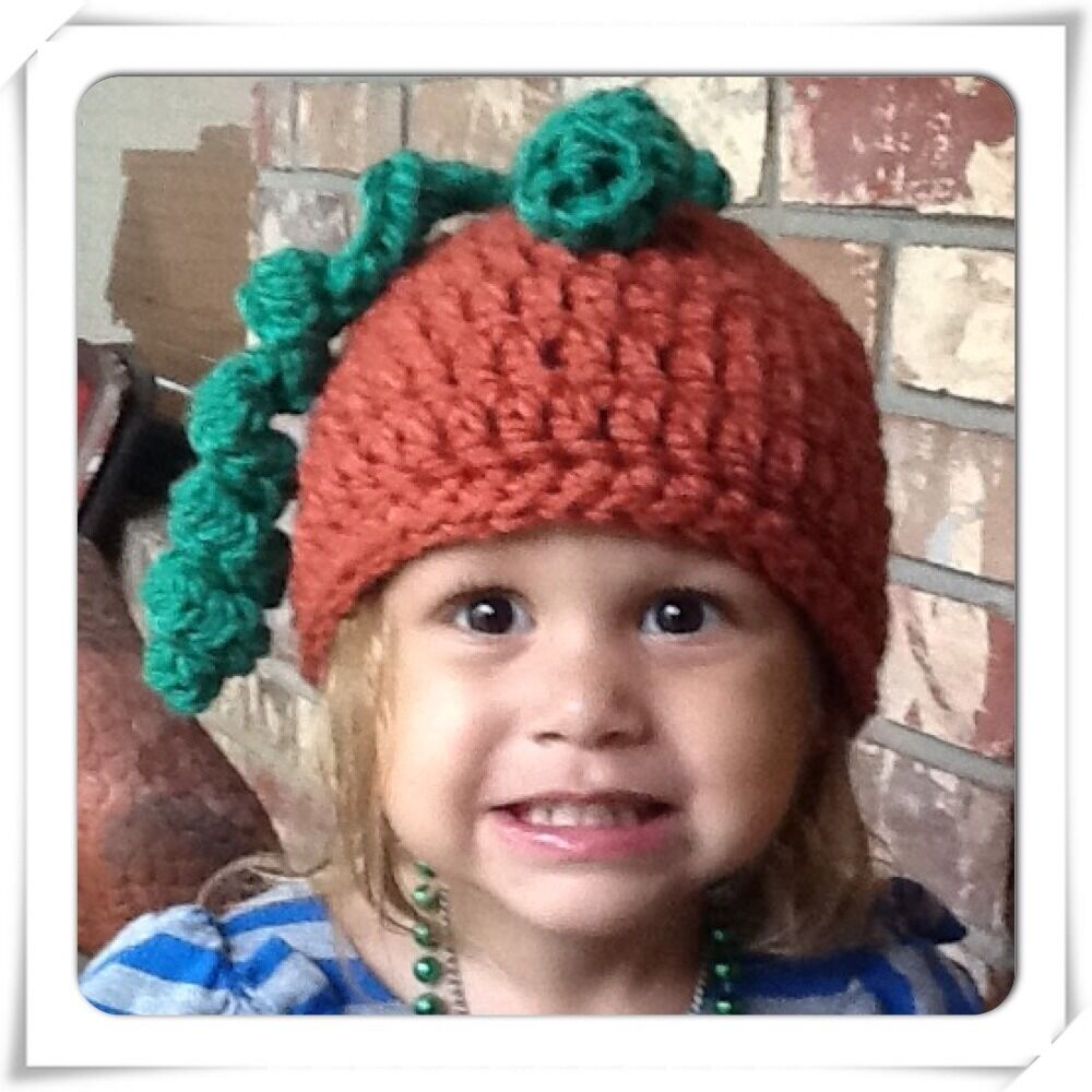 Details about CROCHET TODDLER CHUNKY YARN PUMPKIN HAT ~ 18