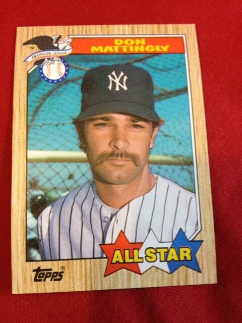 Don Mattingly Baseball Card All Star 606 1987 Topps Rare