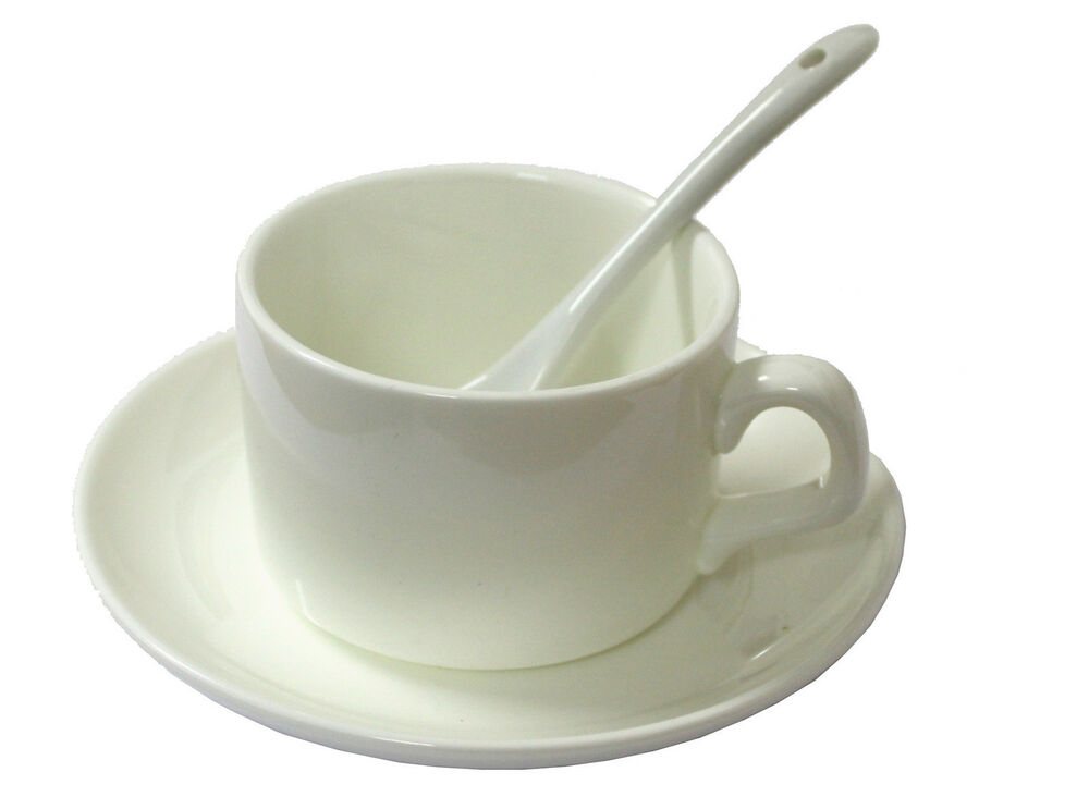 36 X 5oz Coffee Mug Saucer And Spoon Ceramic Sublimation