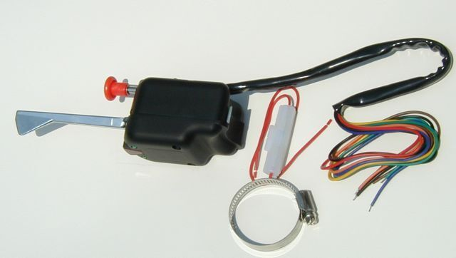 Hot Rod Turn Signals : Black universal turn signal switch quality hot rod custom
