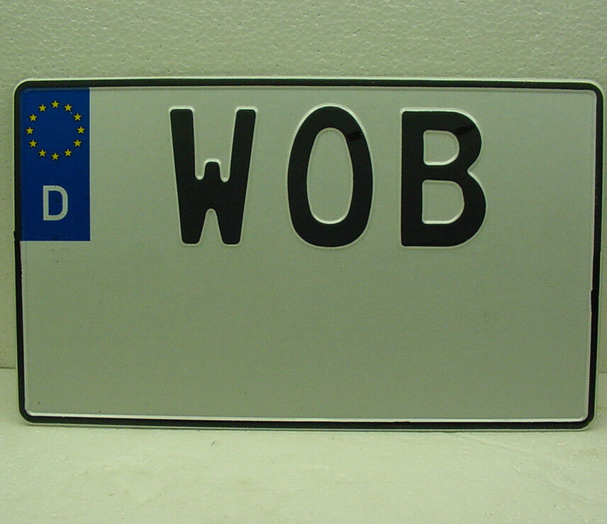 Volkswagen Wob Wolfsburg License Plate Custom Your Text