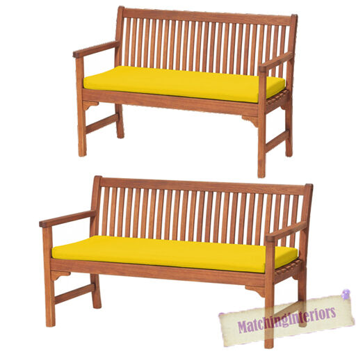 yellow 2 or 3 seat bench swing garden seat pad home floor. Black Bedroom Furniture Sets. Home Design Ideas