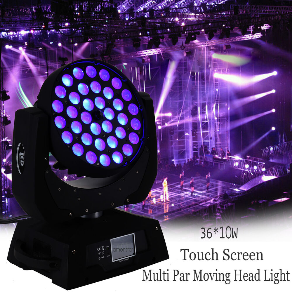 36 X10W Zoom LED Multi Par Moving Head Light 360W 4 IN 1