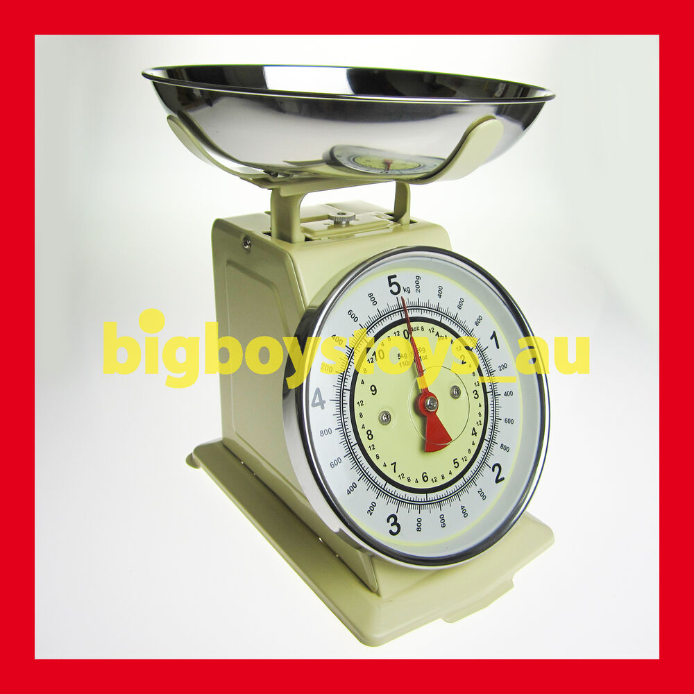 Blue Kitchen Scales: RETRO KITCHEN SCALES VINTAGE LOOK KITCHEN SCALE 5Kg