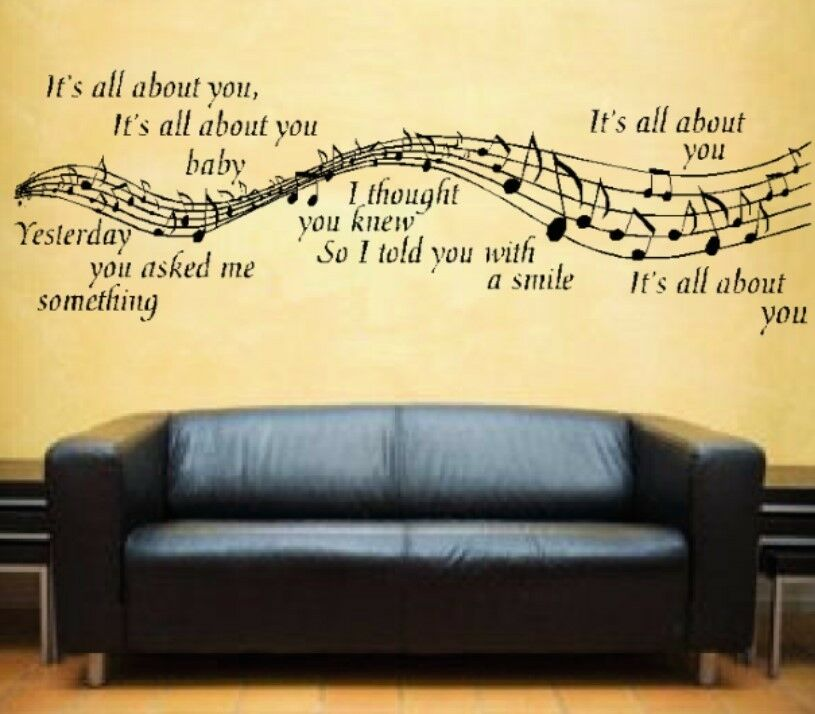... All About You Lyrics Wall Art Vinyl Sticker Music Notes Mc Fly | eBay