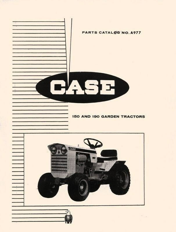 Tractor Manual Thickness : Case and garden tractor parts catalog manual ebay