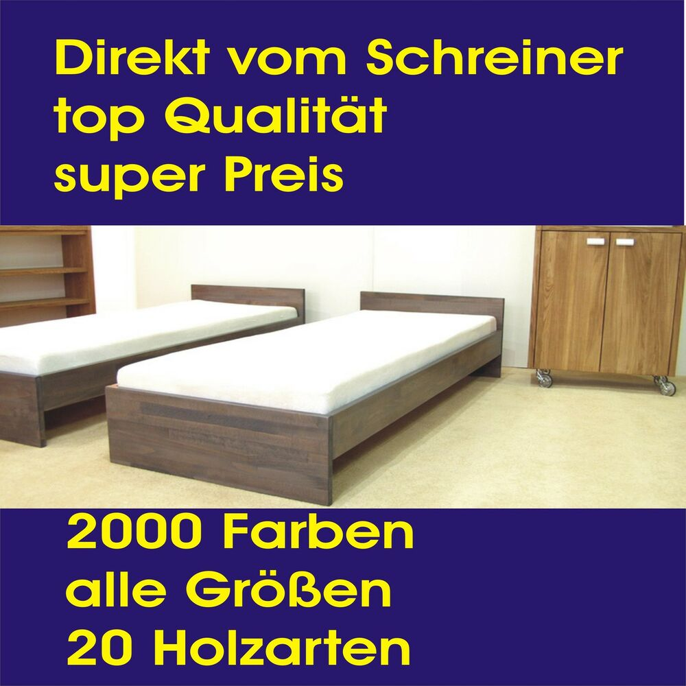 betten 120 x 220 cm buche massivholzbett futonbett g stebett jugendbett holzbett ebay. Black Bedroom Furniture Sets. Home Design Ideas
