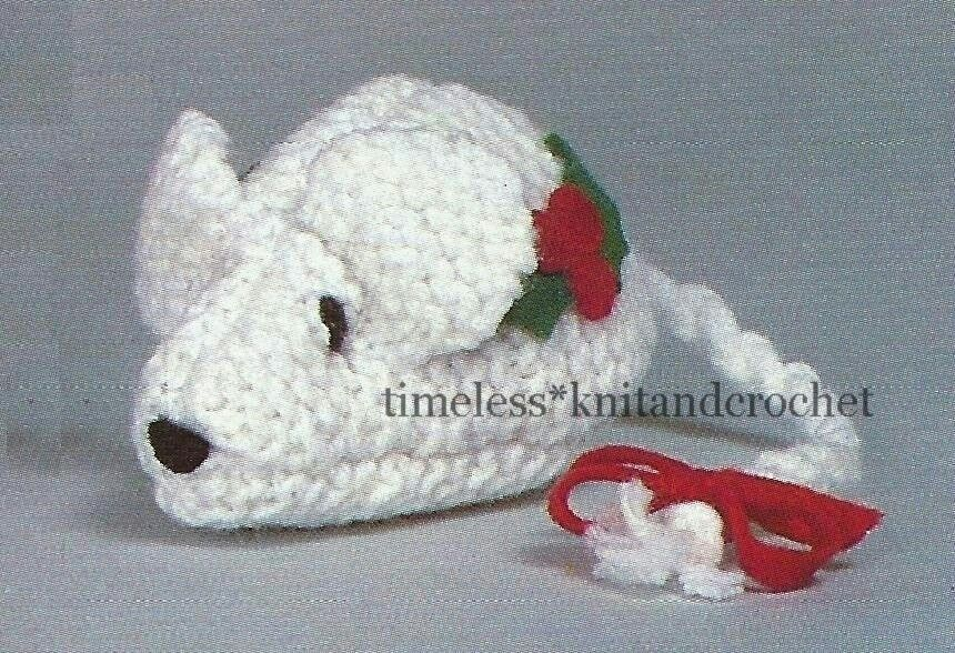 Knitting Patterns For Christmas Mice : VINTAGE KNITTING PATTERN FOR CHRISTMAS MOUSE / MICE - XMAS DECORATION eBay