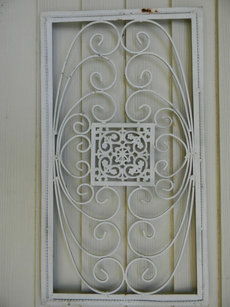 Vintage Wrought Iron Ornate Architectural Garden Wall