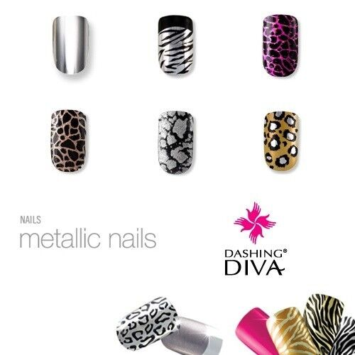 Dashing Diva - Metallic Nails (Full Cover) 120ct - Nail ...