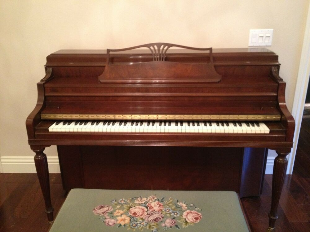 steinway and sons console piano sheridan style 42 satin mahogony ebay. Black Bedroom Furniture Sets. Home Design Ideas