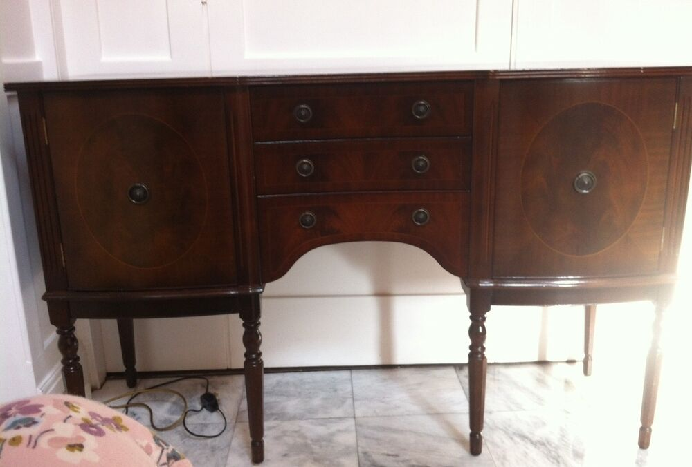 Beautiful Wood Sideboard ~ Beautiful reproduction dark wood sideboard ebay