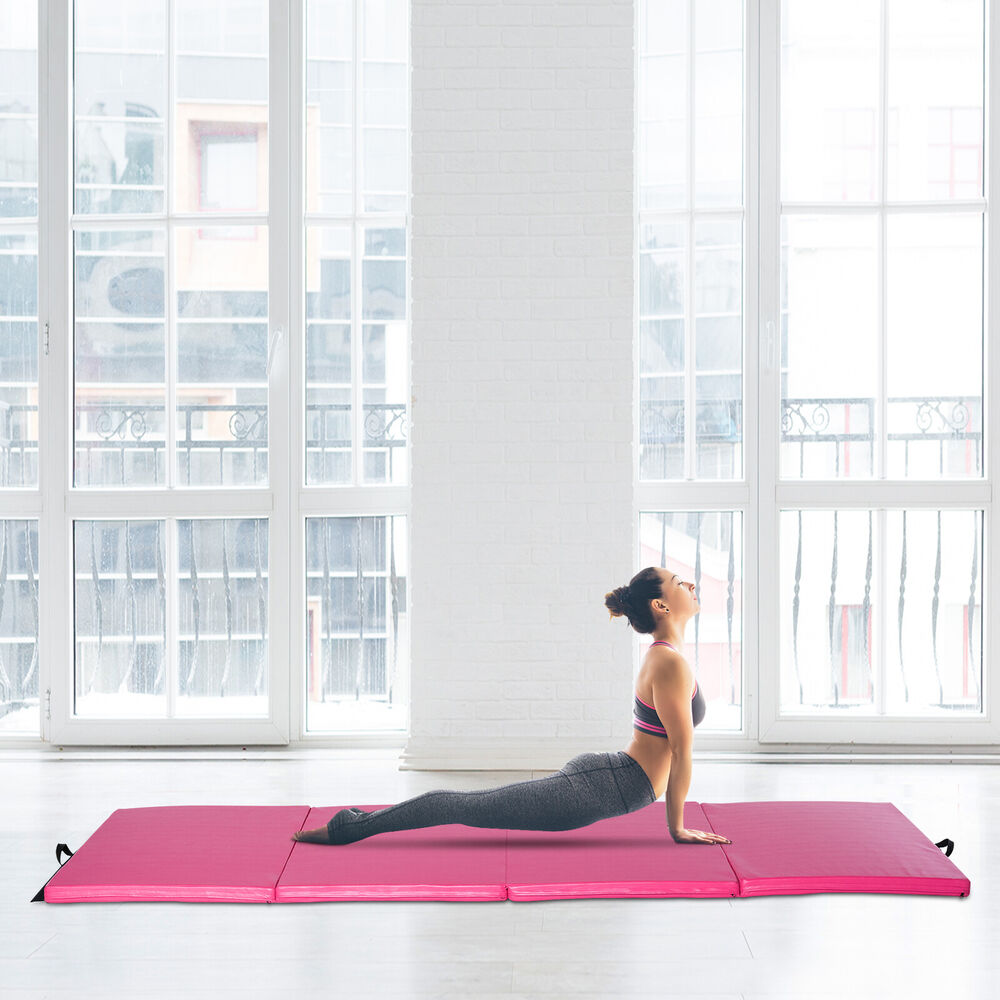 "Soozier 4'×10'×2"" Folding Gym Exercise Mats Yoga Mat"
