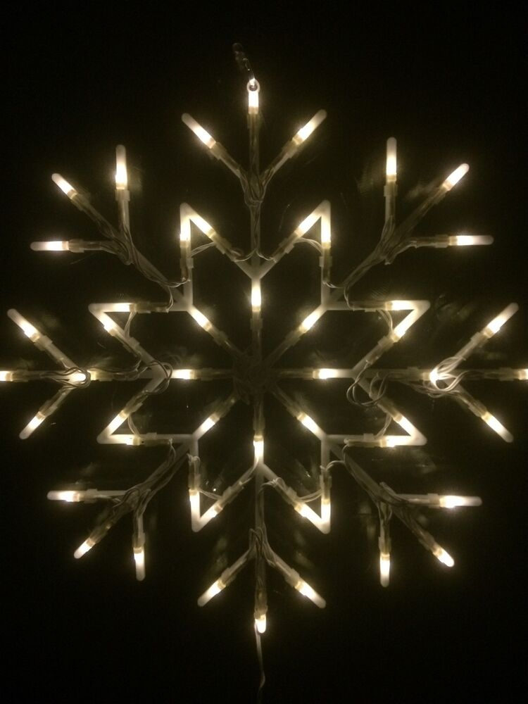 White snowflake window light 35cm x 35cm christmas lights for 16 lighted snowflake christmas window silhouette decoration