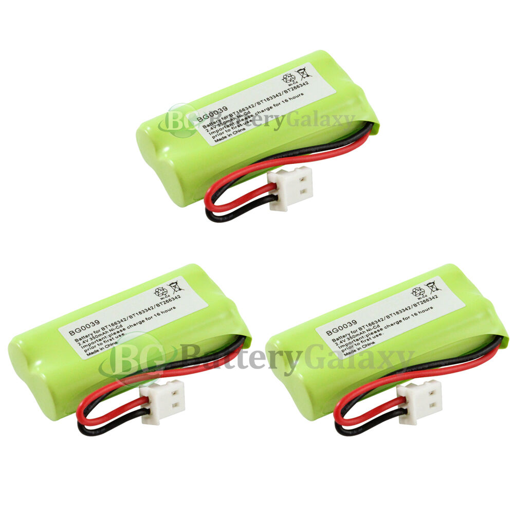 3 new oem bg0039 bg039 cordless home phone rechargeable replacement battery pack ebay. Black Bedroom Furniture Sets. Home Design Ideas