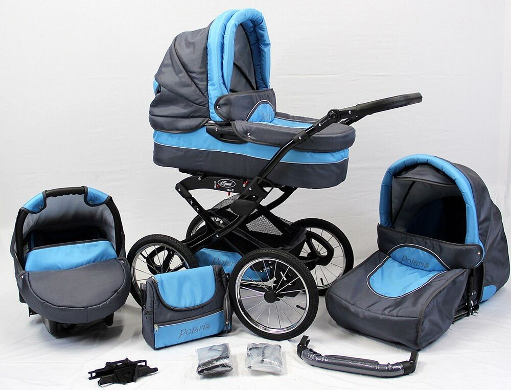 polaris retro 3in1 kinderwagen mit babyschale und 14 luftr der kombikinderwagen ebay. Black Bedroom Furniture Sets. Home Design Ideas