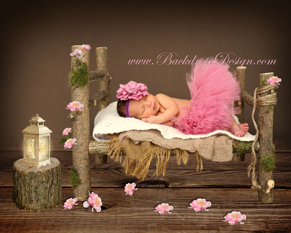 Baby bed ebay india - Newborn Log Bed Photo Prop Baby Photography Prop Wood Bed Hand Made Ebay