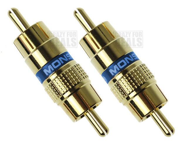 Qty 2 Monstercable Rca Audio Cable Male To Male Adapter