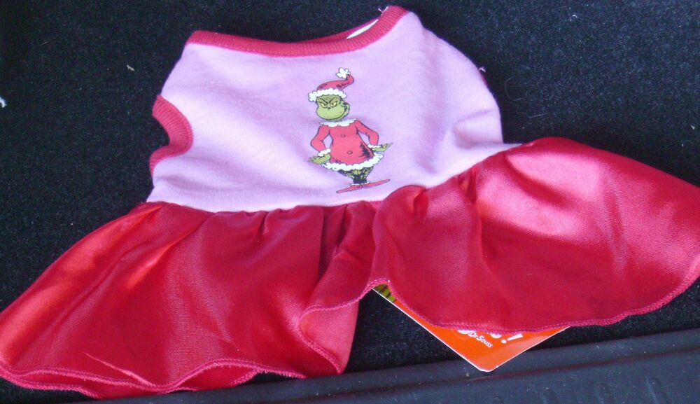 Large Dr Seuss Grinch Dress Christmas Costume Puppy Dog Pet Clothes ...