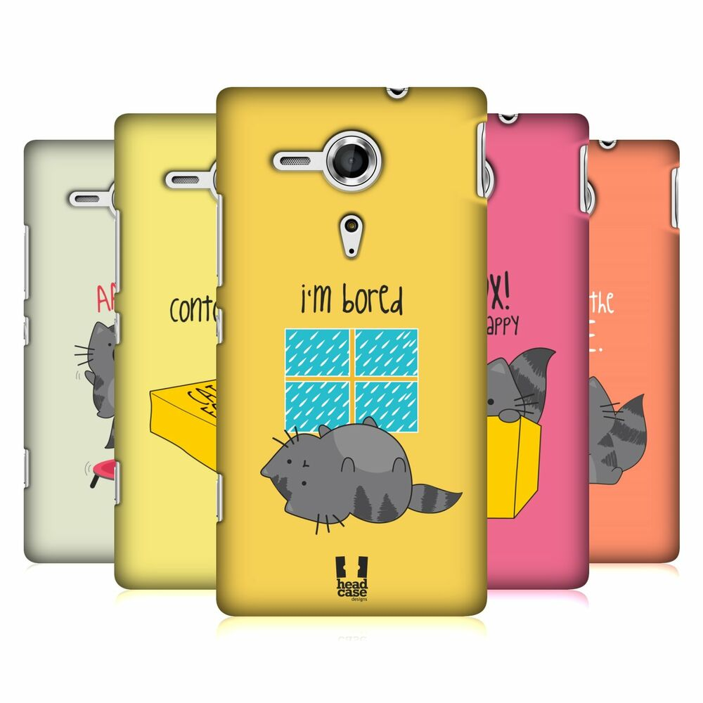 HEAD CASE DESIGNS WILBUR THE CAT CASE COVER FOR SONY XPERIA SP C5303 ...