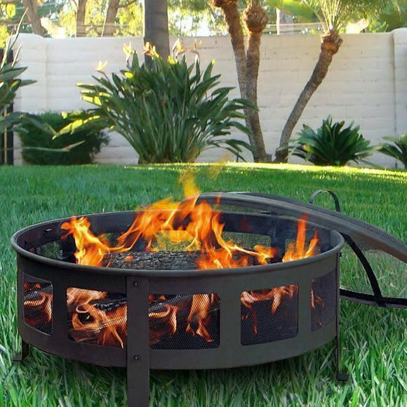 Bravado mesh fire pit set bbq grill outdoor patio firepit for Buy outdoor fire pit